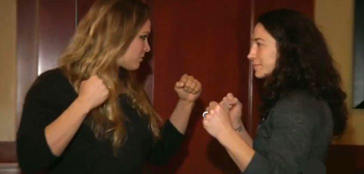 Ronda Rousey vs Sara McMann staredown