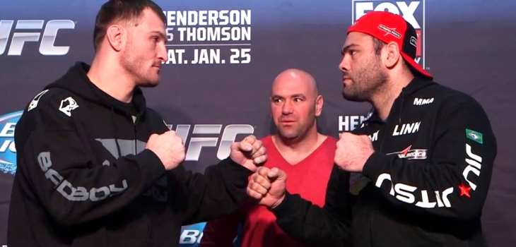 UFC on FOX 10 Staredowns Gabriel Gonzaga Stipe Miocic