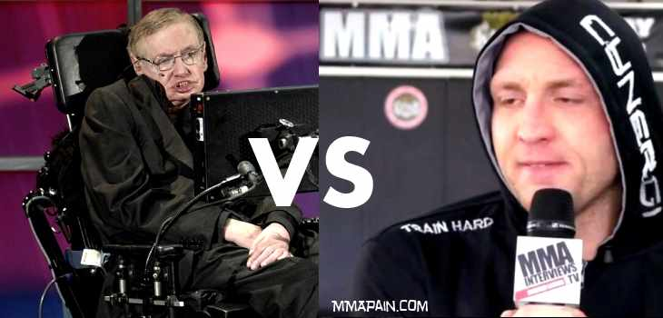 mayhem miller vs stephen hawking