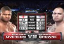 Browne vs Overeem fight video