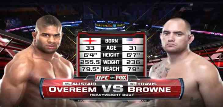 Browne vs Overeem fight video
