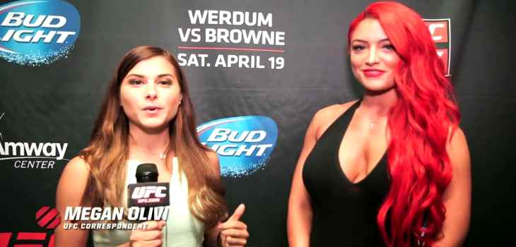 Megan Olivi and WWE diva Eva Marie