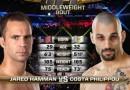 Costas Philippou vs Jared Hamman fight video