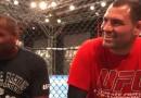 Daniel Cormier and Cain Velasquez