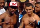 Floyd Mayweather vs Marcos Maidana weigh ins