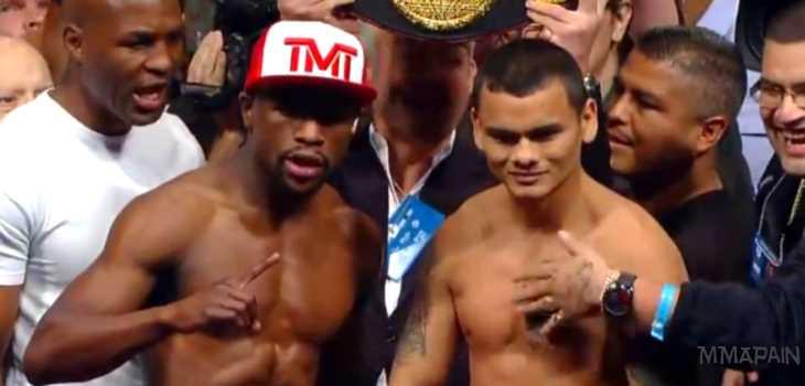 Floyd Mayweather vs Marcos Maidana weigh ins