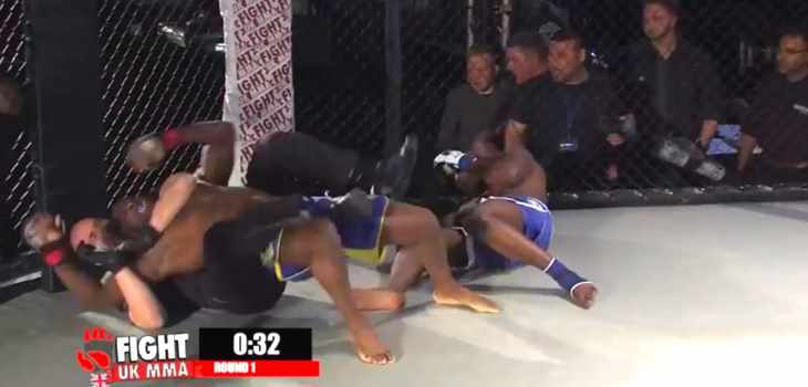 Ref chokes fighter