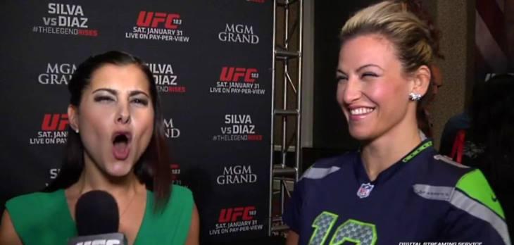 Megan Olivi and Miesha Tate