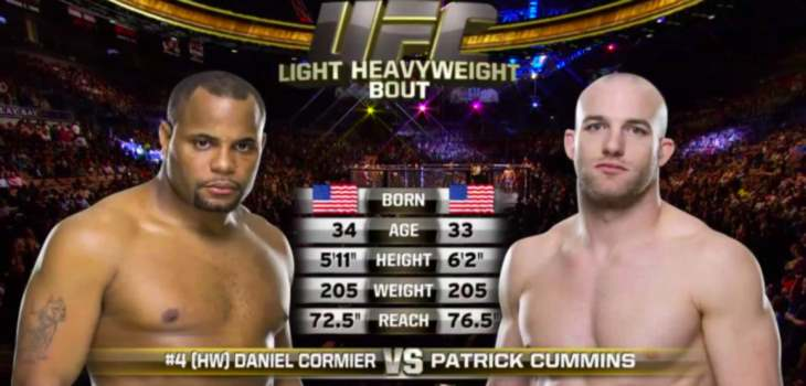 Daniel Cormier vs. Patrick Cummins fight video