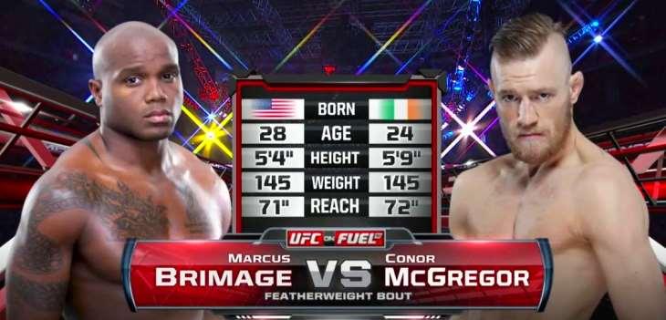 Conor McGregor vs Marcus Brimage fight video hd