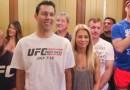 UFC Bruce Buffer and Paige VanZant