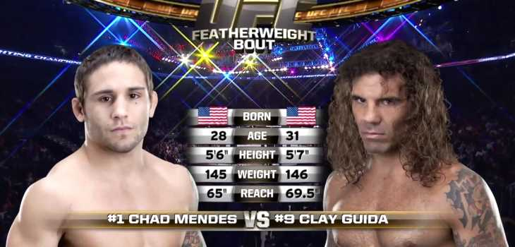 Chad Mendes vs Clay Guida fight video