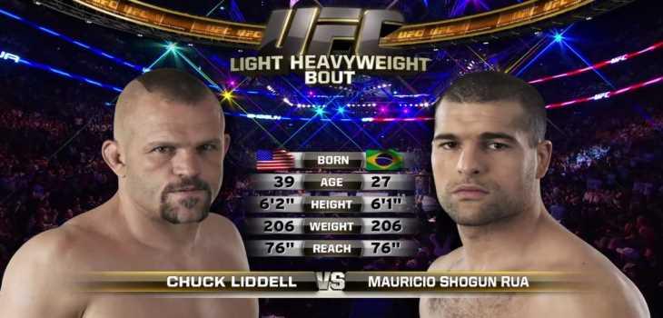 Chuck Liddell vs Shogu Rua Fight Video HD