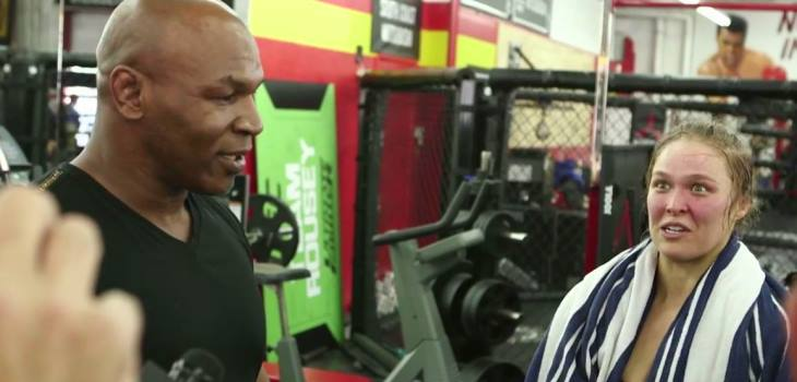 Mike Tyson and Ronda Rousey 2015