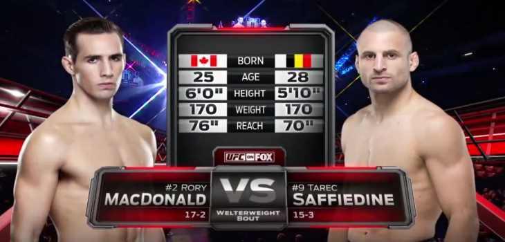 Rory MacDonald vs Tarec Saffiedine Fight Video