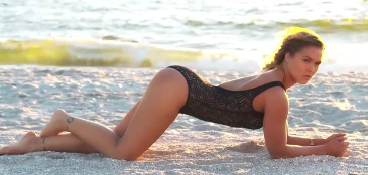 Ronda Rousey Gets A Rubdown During Sports Illustrated Swimsuit Shoot Outtakes Video