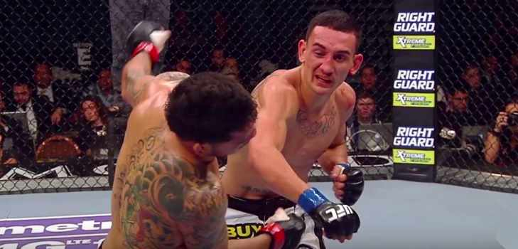 Max Holloway vs. Charles Oliveira fight