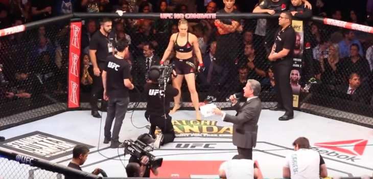 Ronda Rousey VS Bethe Correia crowd view