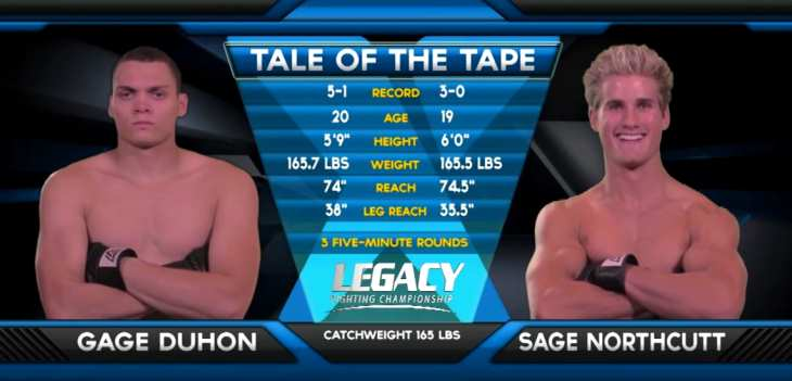 Sage Northcutt vs Gage Duhon fight video
