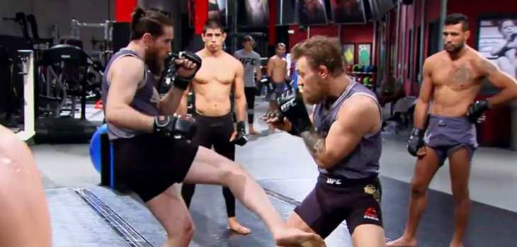 Conor McGregor TUF 22 training
