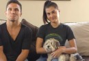 Joseph Benavidez Megan Olivi and Benny the dog