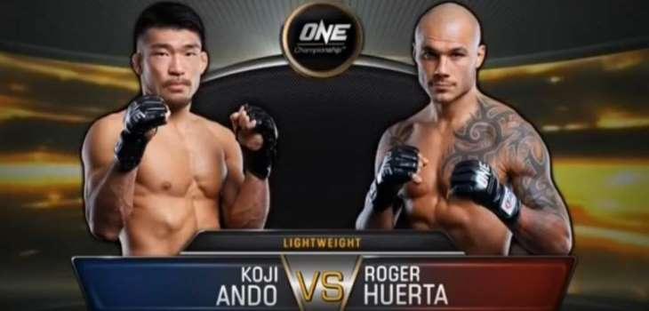 Koji Ando vs Roger Huerta fight video