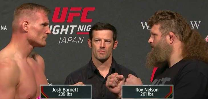 UFC Fight Night Japan weigh ins