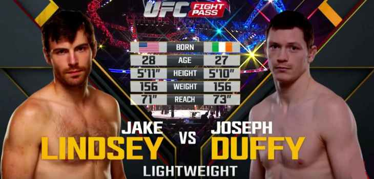 Joe Duffy vs Jake Lindsey fight video