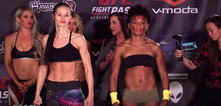 Angela Hill vs. Stephanie Eggink fight video
