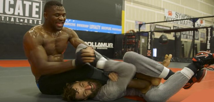 UFC 226 Buddies Michael Chiesa and Francis Ngannou